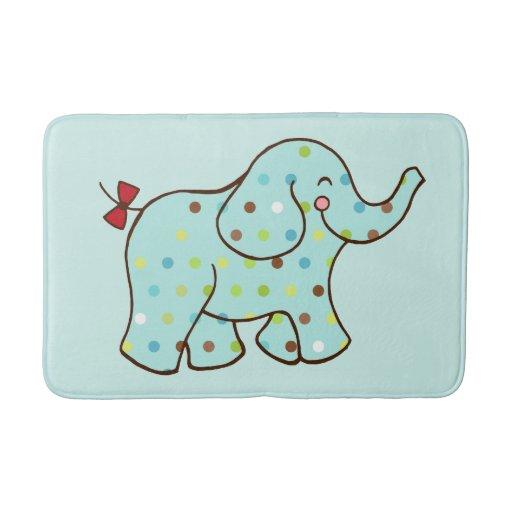 baby elephant bath mat bath mats zazzle. Black Bedroom Furniture Sets. Home Design Ideas