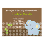 Baby Elephant Blue Boy Baby Shower Sprinkle Invite