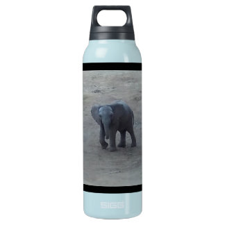 Baby Elephant Blue - by Fern Savannah Insulated Water Bottle