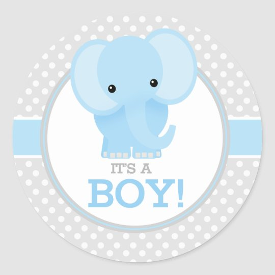 baby elephant  blue  it s a boy classic round sticker School Teddy Bear Vector School Teddy Bear Vector