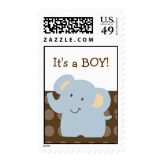 Baby Elephant Brown Postage :: Tootsie Doodle::