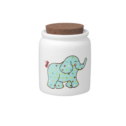 Baby Elephant Canister Candy Dish