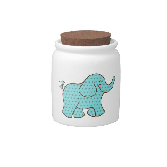 Baby Elephant Canister Candy Dishes