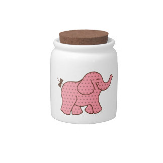 Baby Elephant Canister Candy Jars