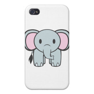 Baby Elephant Cartoon iPhone 4 Case