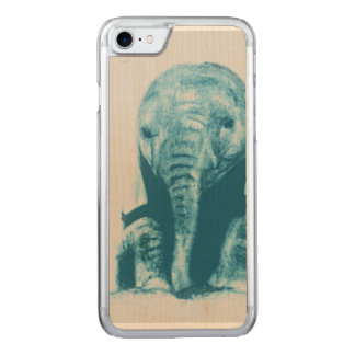 Baby Elephant Carved iPhone 7 Case