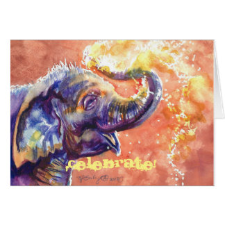 Baby Elephant Celebrate! Card