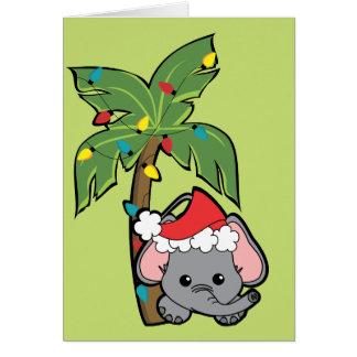Baby Elephant Christmas Cutie Card