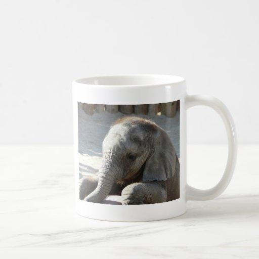 baby elephant classic white coffee mug