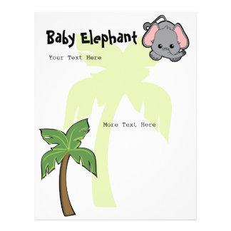"""Baby Elephant Cutie 8.5"""" X 11"""" Flyer"""