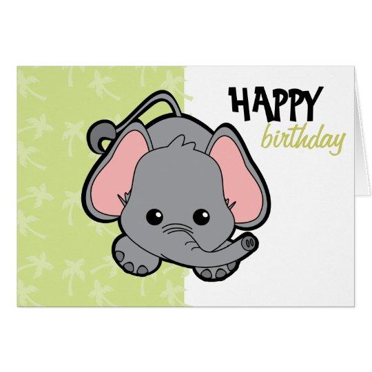 Baby Elephant Cutie Card