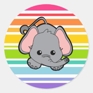 Baby Elephant Cutie Classic Round Sticker