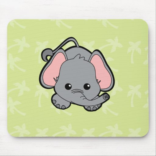 Baby Elephant Cutie Mouse Pad