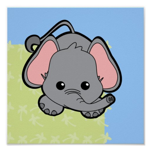 Baby Elephant Cutie Print