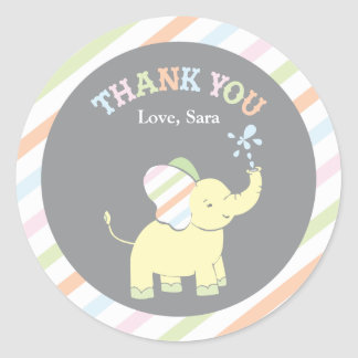 Baby Elephant  |  Favor Sticker