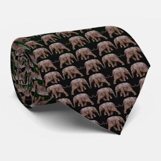 Baby Elephant Frenzy Tie Double Sided(Green/Black)