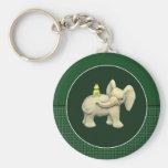 Baby Elephant & Frog Keychain
