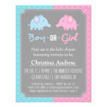 Baby Elephant Gender Reveal Baby Shower Party Invitations