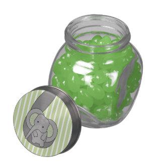 Baby Elephant Glass Jars