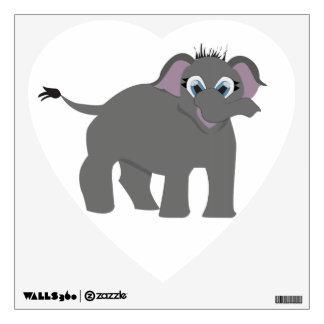Baby Elephant Heart Shaped Decal