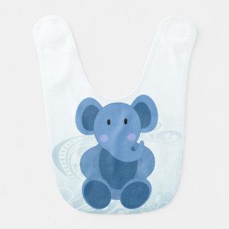 Baby Elephant in Blue - Baby Bib