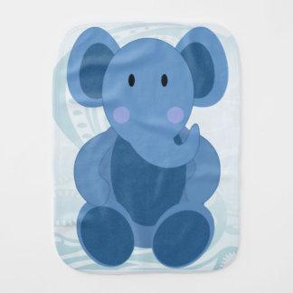 Baby Elephant in Blue - Burp Cloth