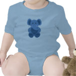 Baby Elephant in Blue - Infant Creeper Baby Bodysuits