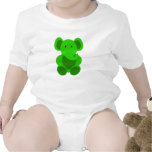 Baby Elephant in Bright Green - Infant Creeper Rompers