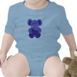 Baby Elephant in Purple - Infant Creeper Bodysuits
