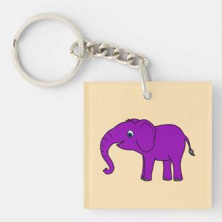 Baby Elephant in Purple Keychain
