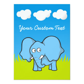 Baby Elephant 6.5x8.75 Paper Invitation Card