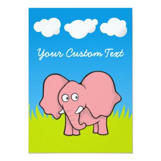 """Baby Elephant 5"""" X 7"""" Invitation Card"""