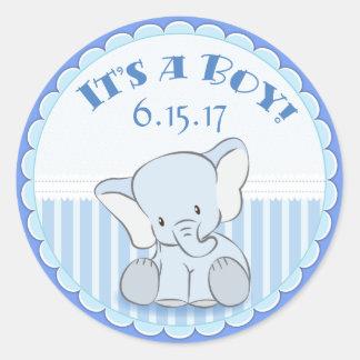 Baby Elephant It's a Boy Stickers