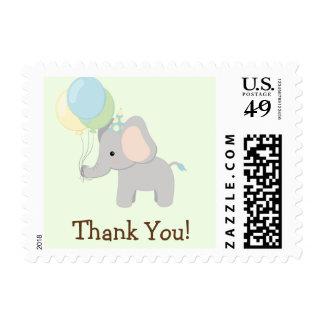 Baby Elephant; Jungle Animal Thank You Postage Stamp