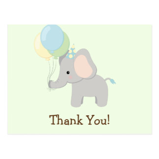 Baby Elephant; Jungle Animal Thank You Postcard