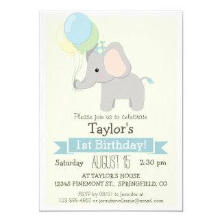"""Baby Elephant Kid's Birthday Party Invitation 5"""" X 7"""" Invitation Card"""