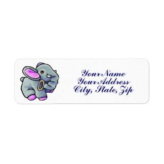 Baby Elephant Label