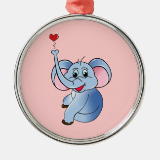Baby Elephant Metal Ornament