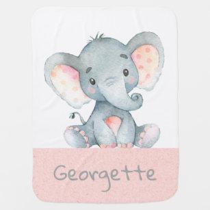 Baby Elephant Nursery Blanket