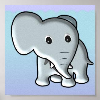 Baby Elephant/ Nursery Decor Poster