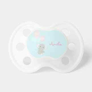 Baby Elephant Personalized Girl's Baby Pacifier