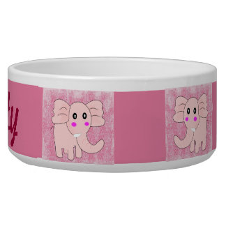Baby Elephant Pink Damask Bowl