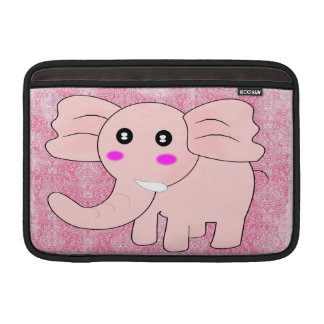 Baby Elephant Pink Damask Sleeve For MacBook Air