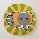Hand shaped Baby elephant round pillow