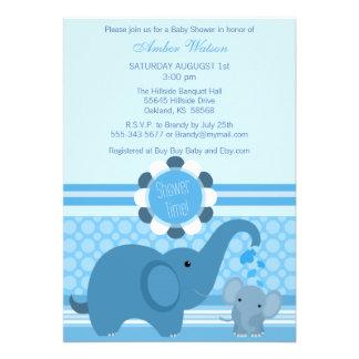 Baby Elephant Shower Invitation Card
