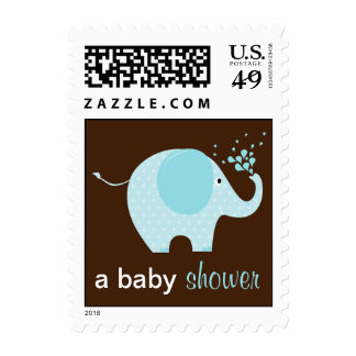Baby Elephant Shower Stamps