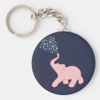 Baby Elephant Star Shower Key Chain