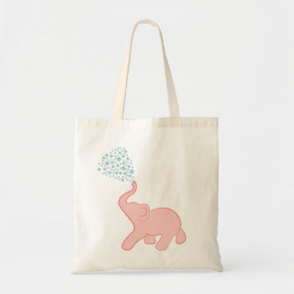 Baby Elephant Star Shower Tote Bag