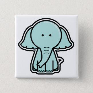 Baby Elephant Sticker Button