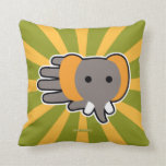 Hand shaped Baby elephant throw pillow